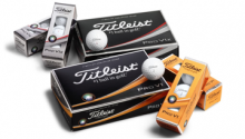 Package of Titleist balls